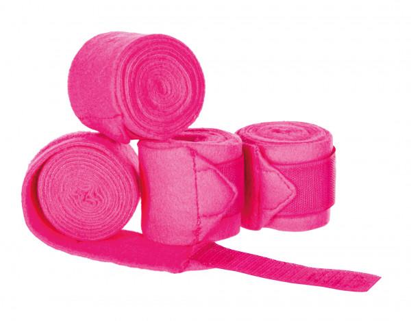 Bandagen in pink für Gartenpferd