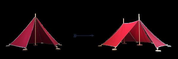 Abel 1-2 Erweiterung rot, Spielzelt