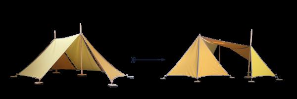 Abel 2-3 Erweiterung gelb, Spielzelt