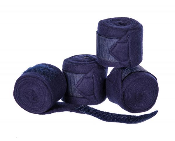 Bandagen in blau für Gartenpferd